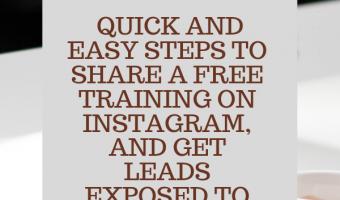 Free Live Instagram Marketing Training
